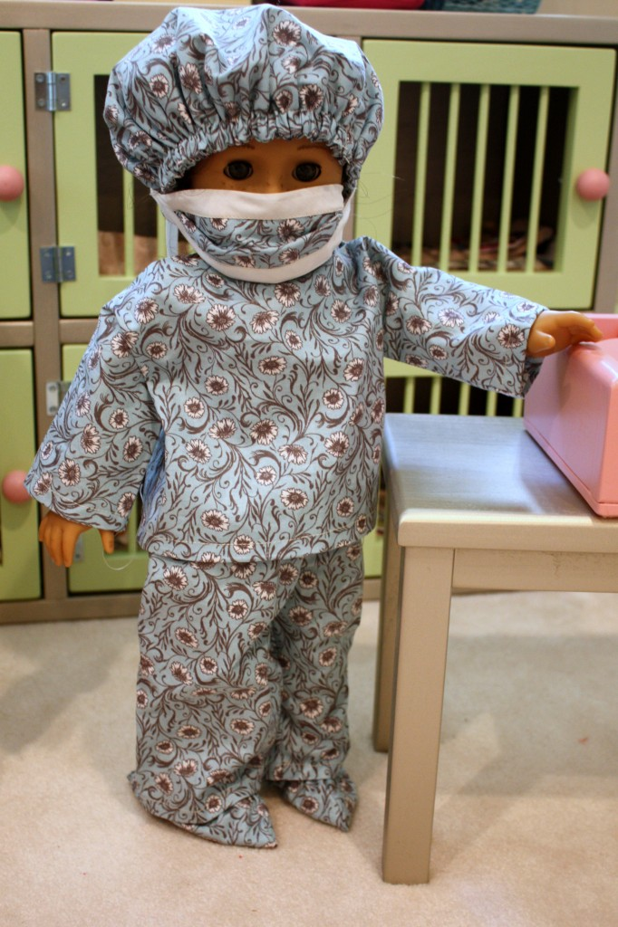 scrubs on Georgia's AG doll Clara