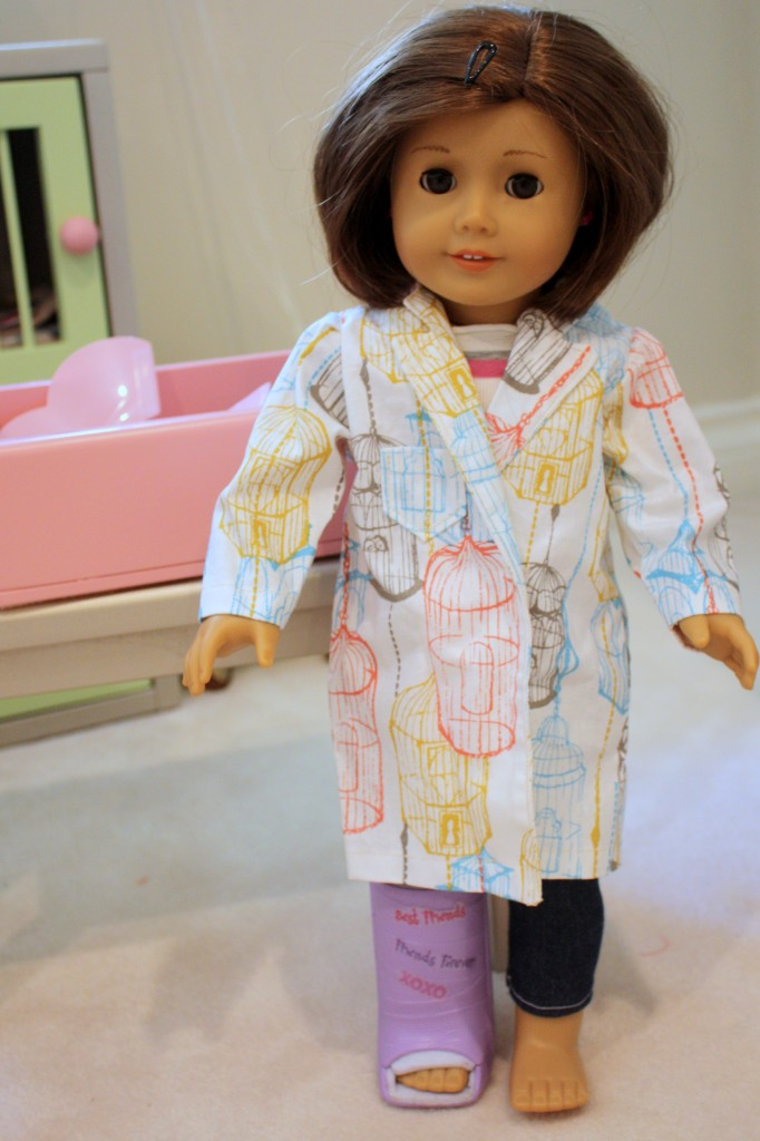 lab coat for Ava's AG doll Emily
