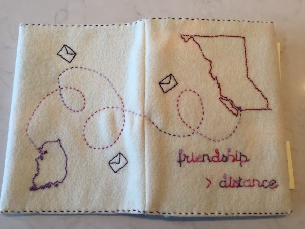 Post image for embroidered memory / address book
